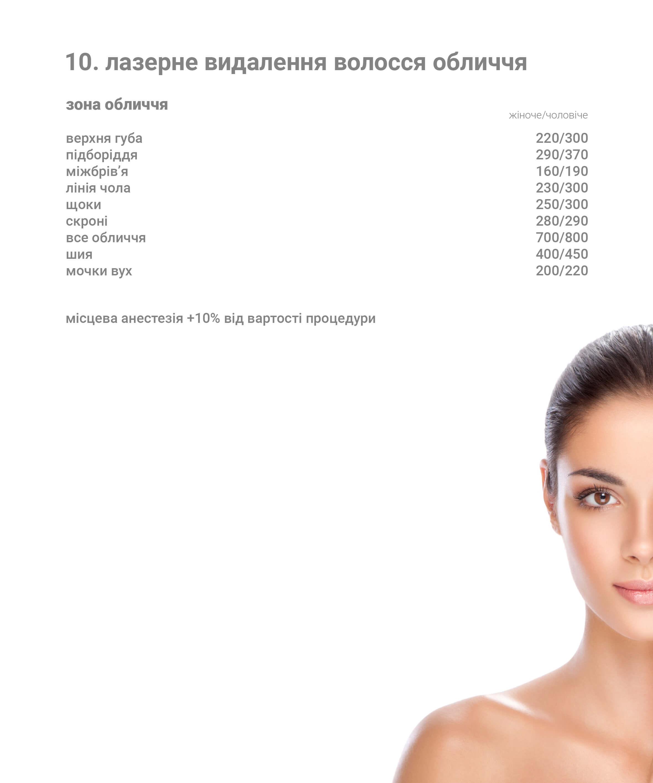 лазерне видалення волося тіла